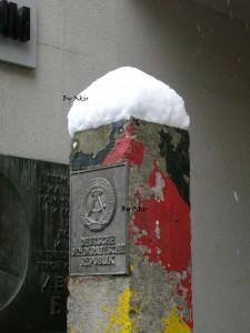 Il pilastro di accesso alla DDR, di Oscar Carrara
