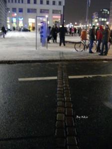 La linea del Muro di Berlino oggi, di Oscar Carrara