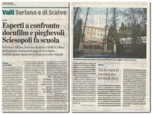 L'Eco di Bergamo, Sciesopoli Voci di muri per la Memoria