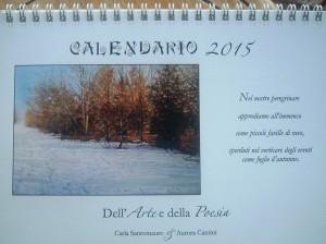 Calendario 2015 Parco Nord, dipinti di Carla Santomauro e poesie di Aurora Cantini