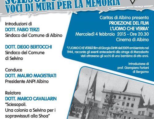 """Settantesimo anniversario apertura dei cancelli di Auschwitz, ad Albino l'evento """"Sciesopoli – Voci di muri per la memoria"""""""