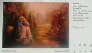 Calendario 2013 di Carla Santomauro, con i versi poetici della scrittrice Loredana Limone