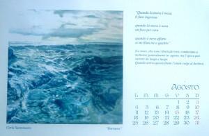 Calendario 2014 e un dipinto di Carla Santomauro