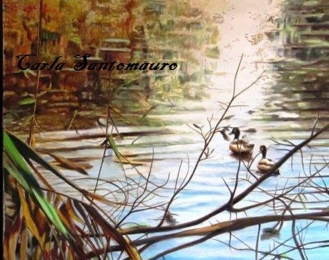 Nei dipinti di Carla Santomauro la scoperta del paesaggio italiano