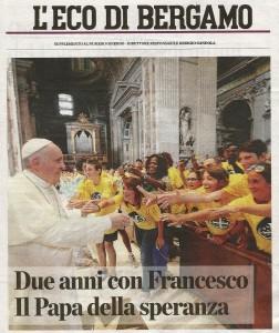 L'Eco di Bergamo, i due anni di Papa Francesco