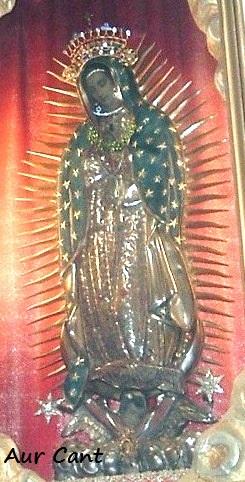 La tela della Madonna di Guadlaupe nel Santuario di Albino