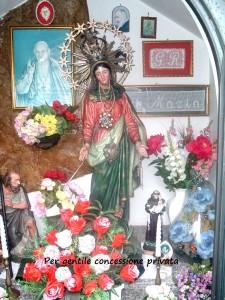 La statua della Madonna di Guadalupe venerata a Piazzo di Nembro