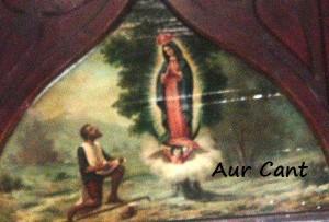 Il dipinto che descrive l'Apparizione a Juan Diego in Messico
