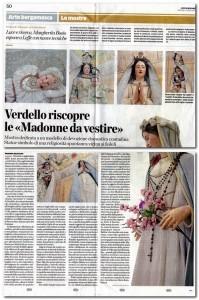 L'Eco di Bergamo, le Madonne vestite