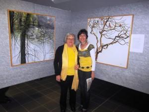 La pittrice Carla Santomauro e la poetessa bergamasca Aurora Cantini