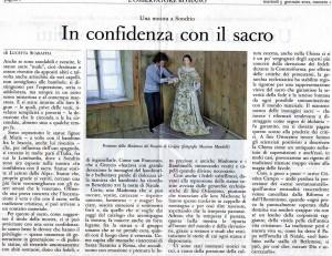 L'Osservatore Romano, le Madonne vestite