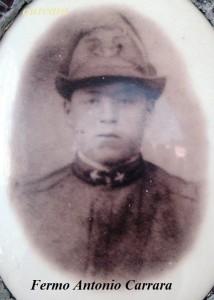 Carrara Fermo Antonio, uno dei 4 fratelli Carrara di Amora Bassa, Aviatico, Caduti nella Grande Guerra