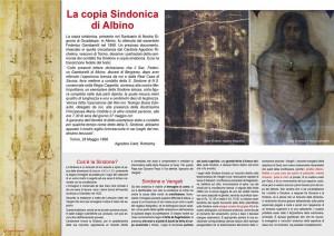 Articolo dedicato alla copia sindonica ad Albino, Bergamo