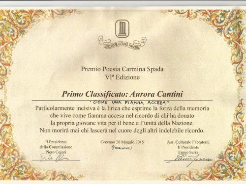 """La sesta Edizione del Concorso Nazionale di poesia """"Carmelina Spada"""" premia la poesia del soldato bergamasco della Grande Guerra"""