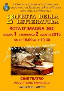 Rota Imagna 1 agosto Festival della Letteratura