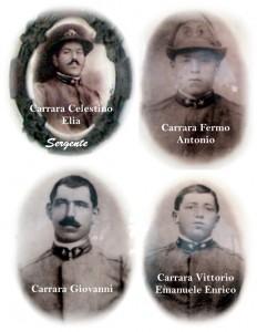 I 4 Fratelli Carrara Caduti nella Grande Guerra