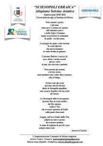 Poesia Anniversario Sciesopoli 1945 2015, di Aurora Cantini