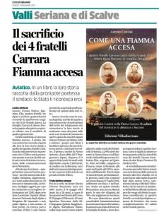 Come una fiamma accesa, in un libro il sacrificio dei 4 fratelli Carrara nella Grande Guerra