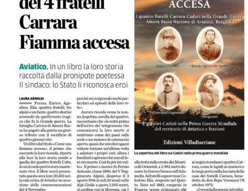 Ad Aviatico il sacrificio dei 4 fratelli Carrara nella Grande Guerra