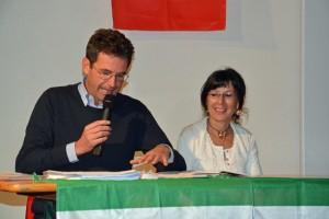 Il sindaco di Aviatico e l'autrice Aurora_Cantini