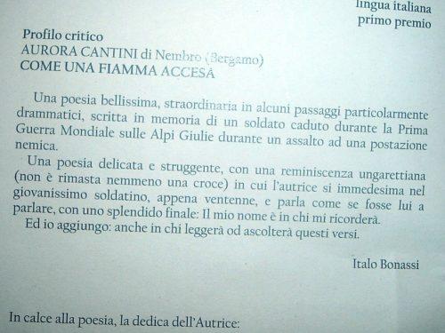 La poesia bergamasca vince ad Ala di Trento