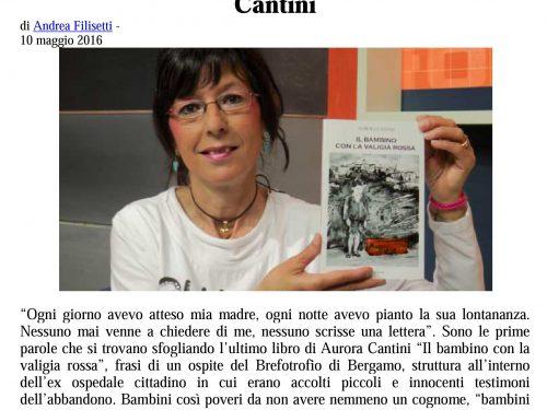La difficile vita di un bambino al Brefotrofio al centro dell'ultimo libro di Aurora Cantini