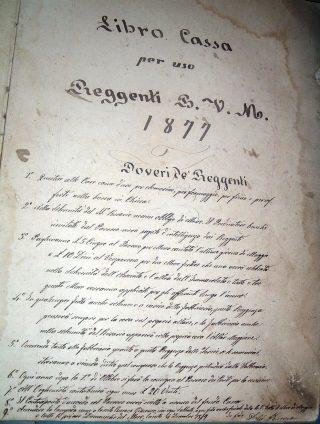 Registro dei Reggenti 1877, San Rocco di Aviatico, per gentile concessione