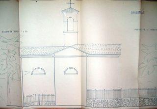 Disegno pianta della chiesetta di San Rocco da ristrutturare, per gentile concessione