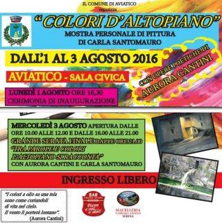 Locandina Colori d'Altopiano 1-3 agosto 2016 Aviatico