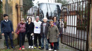16 aprile 2015, Avraham e Ayala varcano i cancelli di Sciesopoli per la prima volta dopo 70 anni.