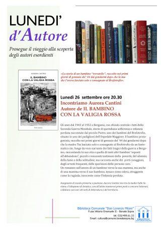 26 settembre Bonate Sopra IL BAMBINO CON LA VALIGIA ROSSA