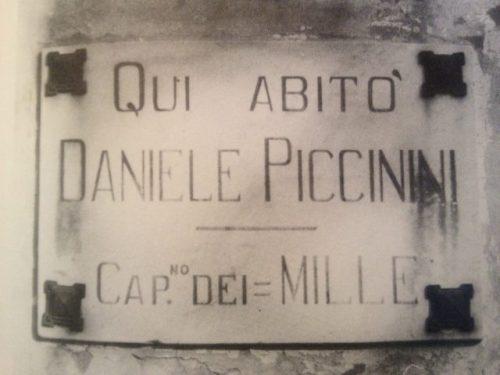 Quando Selvino ebbe il suo Garibaldino: Daniele Piccinini, Capitano dei Mille