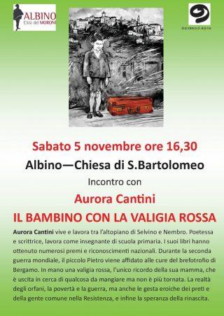 Aurora Cantini ad Albino 5 novembre