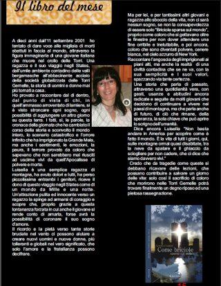 """LIBRO DEL MESE Rivista Stella Magazine n°4 per il romanzo """"Come briciole sparse sul mondo"""""""