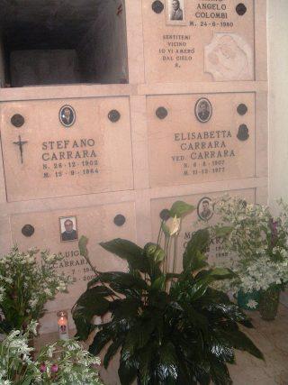 Tomba di famiglia di Modesto Carrara a Brescia e dei genitori