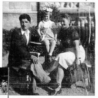 Battista Ghirardi, la piccola Nugne e la mamma ospiti a Selvino neol 1946