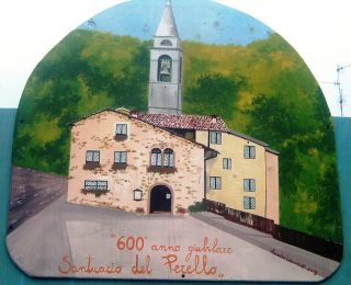 FOTO 5 La chiesa del Monte Perello nel dipinto di Annalisa Carminati