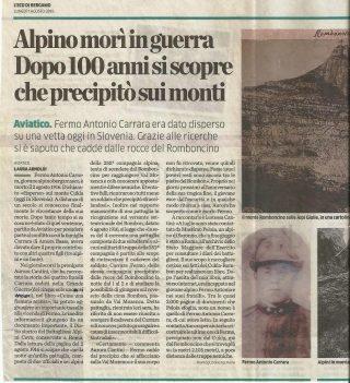 articolo su Fermo Antonio Carrara disperso