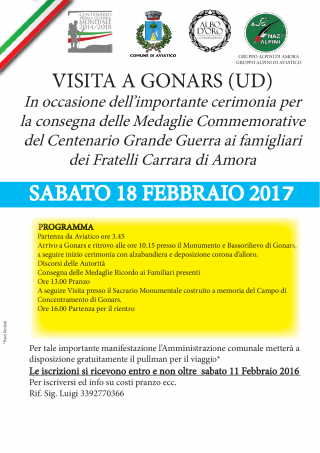 00 18 febbraio 2017 CERIMONIA A GONARS