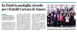 articolo cerimonia medaglia in Friuli