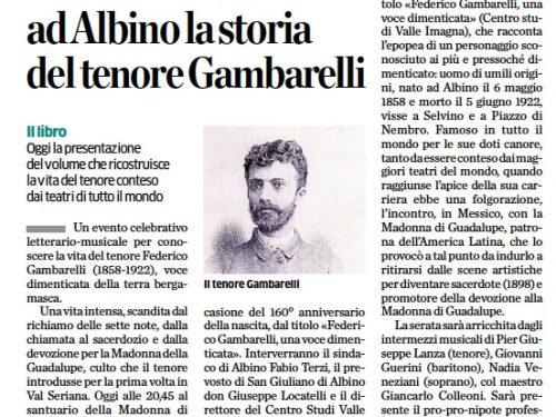 Il GrandeTenore Federico Gambarelli nel 160° anniversario della nascita
