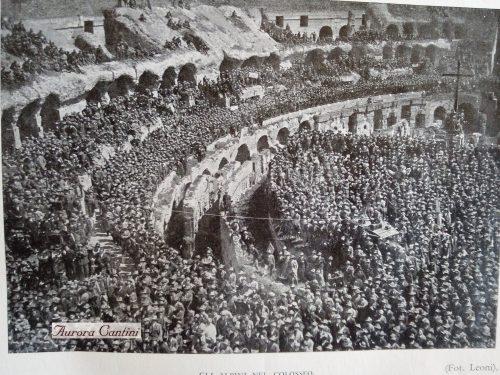 La prima volta degli Alpini al Colosseo