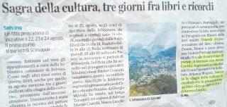 L'articolo Su L'Eco di Bergamo dedicato a Poesie in terrazza a Selvino