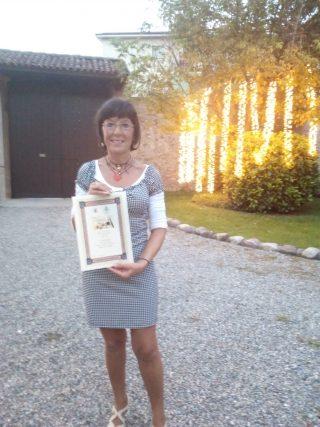 Aurora Cantini premiata a Curno