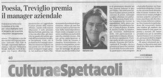 L'articolo su L'Eco di Bergam odedicato al premio TreVille