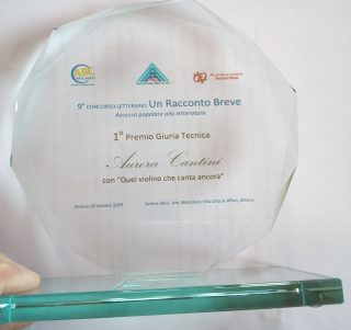 Il trofeo vinto da Aurora Cantini a Milano
