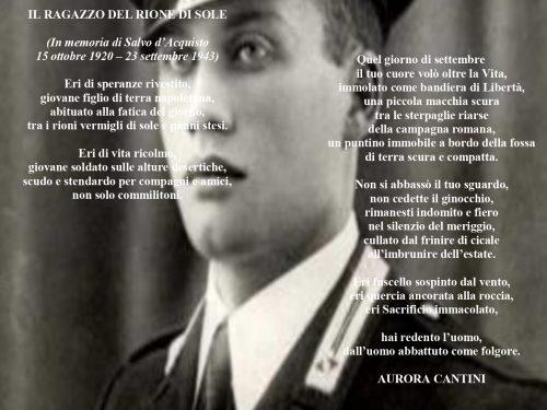 Salvo D'Acquisto, una poesia per il carabiniere eroe