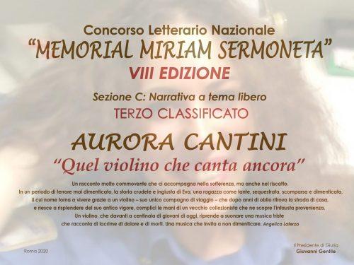 Il Memorial Miriam Sermoneta premia la storia del violino ritrovato ad Auschwitz