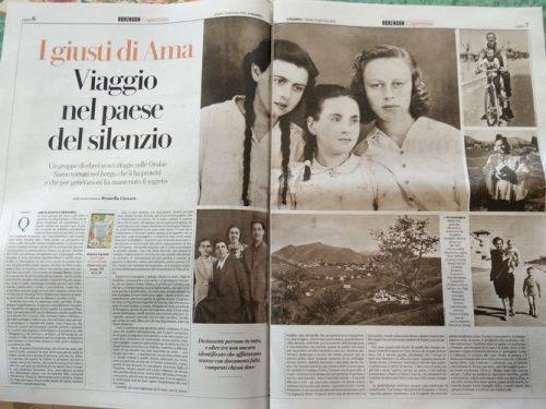 Brunella Giovara e il suo reportage vicino al cielo dove un gruppo di ebrei trovò rifugio
