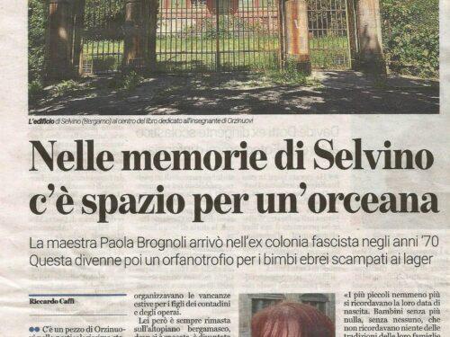 Il quotidiano BresciaOggi e il suo omaggio alle maestrine di Sciesopoli Selvino